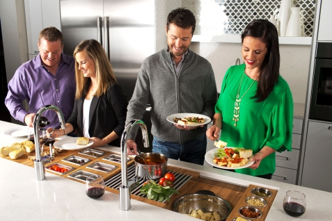 9/25/14 4:50:26 PM -- Kitchen interiors of The Galley sink at Metro Appliance for Kitchen Ideas/The Galley Photo by Shane Bevel