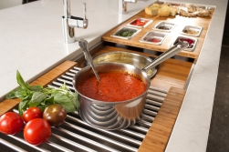 9/25/14 6:24:24 PM -- Kitchen interiors of The Galley sink at Metro Appliance for Kitchen Ideas/The Galley Photo by Shane Bevel